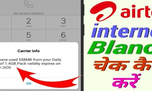 How to check Airtel number data balance
