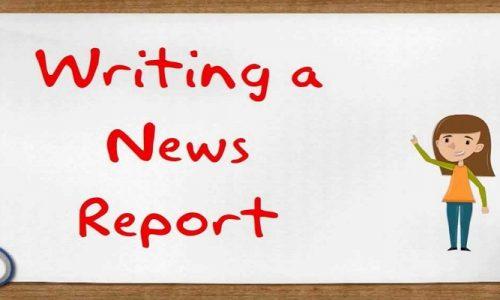 How do you write a student news report?
